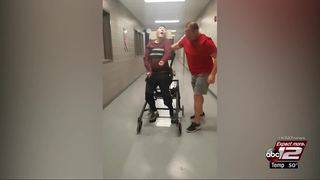 Disabled Judson ISD student walks on campus for first time in 3 months