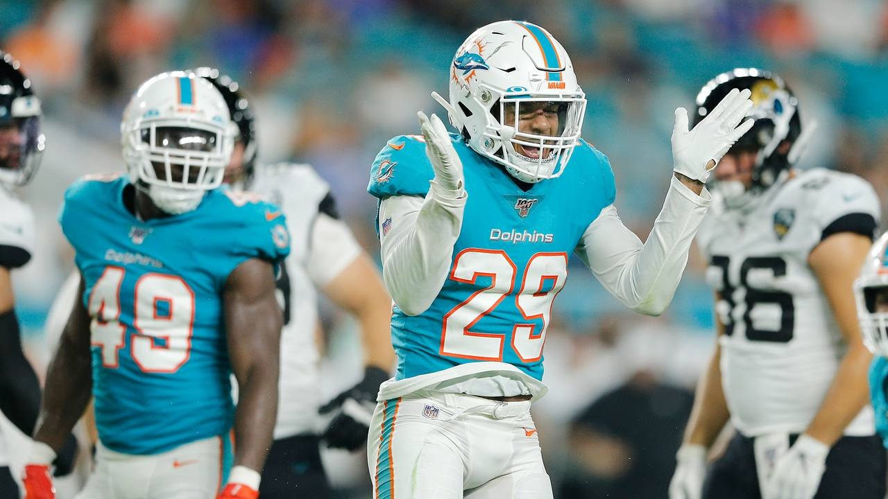Dolphins safety Minkah Fitzpatrick during preseason game vs. Jaguars