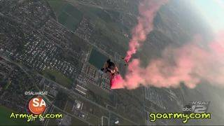 U.S. Army Golden Knights stop by SA Live