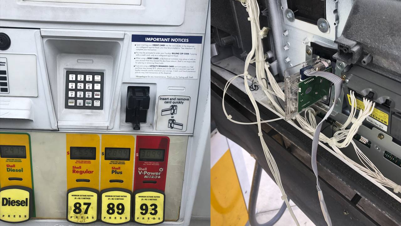 Skimmer found inside Miami Gardens gas station pump