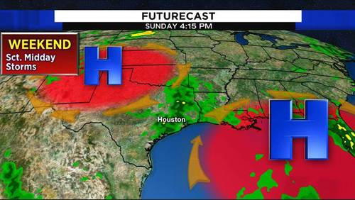 Stormy weekend forecast for Houston