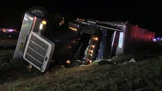 Roundup on I-10: Semi overturns, spilling 149 cows on highway