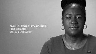 U.S. Army First Sgt. Daila Espeut Jones
