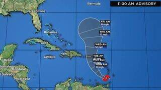 Karen Bringing Gusty Winds And Heavy Rainfall To Portions Of The…