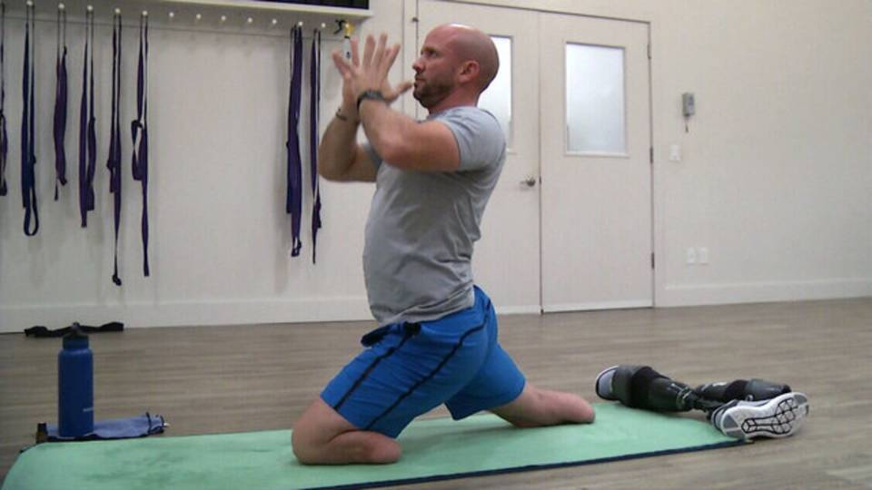 Nevins1 doing yoga