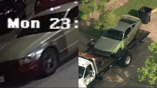 Person of interest in rape cases being questioned; green Ford Mustang seized