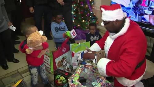 Harris County Sheriff's Office delivers Christmas gifts to family