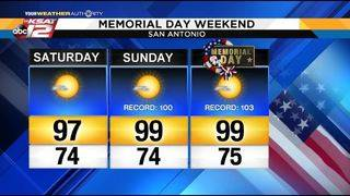 KSAT Weather: Tropical update and Memorial Day forecast