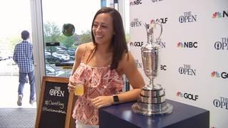 Claret Jug makes a stop at Top Golf