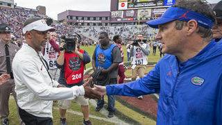 Gators, Mullen clearly ahead of Seminoles, Taggart after first year