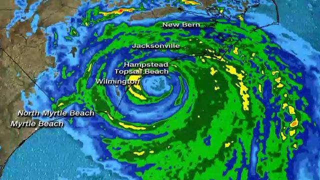 Eyewall Of Hurricane Florence Hits North Carolina