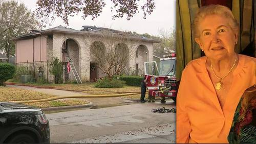 Elderly woman dies after passing firefighter finds her in burning home