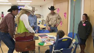 Miss Rodeo Texas, PRCA Cowboys visit pediatric patients