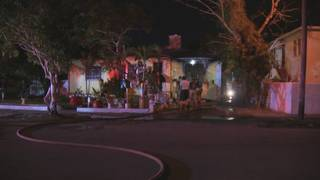 1 taken to hospital after early morning house fire in Miami