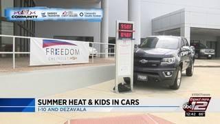 Dangers of leaving children in hot cars