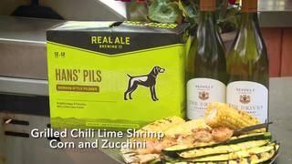 H-E-B Grilled Chili Lime Shrimp Corn and Zucchini