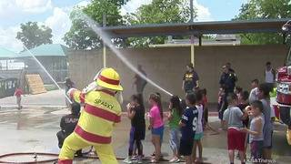 SAFD hosts water day for Douglass Elementary students