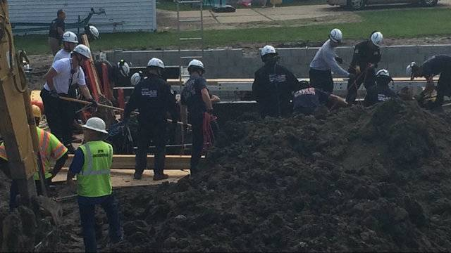 Trench rescue Chesterfield Township 3