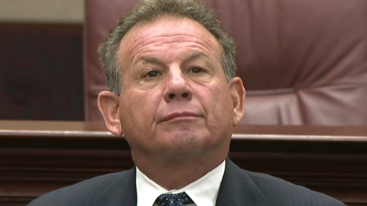 Scott Israel sits in Florida Senate Rules Committee hearing