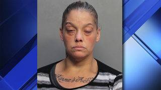 Hialeah woman with 'Karma's a B_____' tattoo arrested for stealing ball machine
