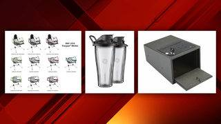 Vitamix containers, handgun safes, camping chairs recalled