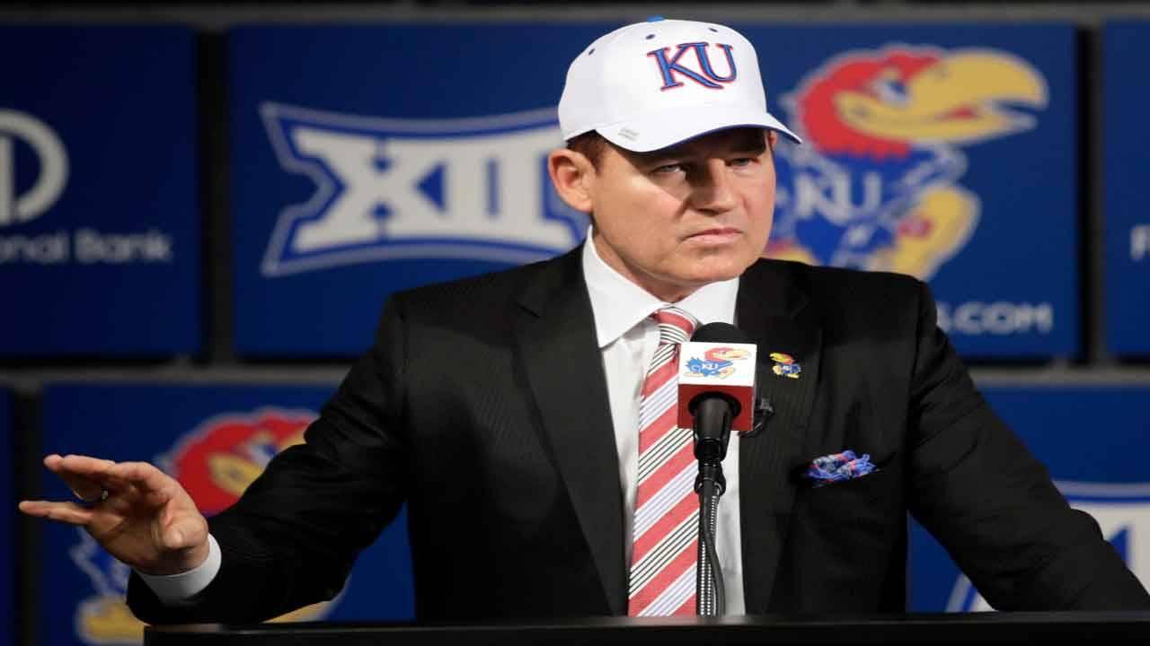 Kansas Jayhawks head coach Les Miles