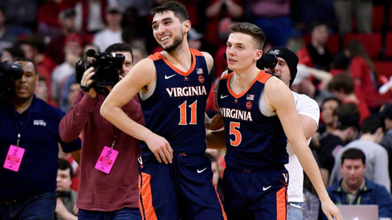 Ty Jerome and Kyle Guy Virginia basketball vs NC State 2019