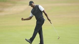Tiger Woods climbs up Open Championship leaderboard