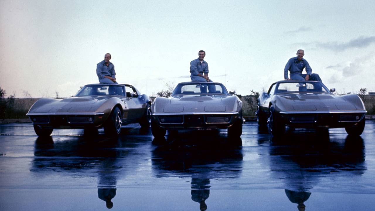 GM archive astronauts and their Corvettes