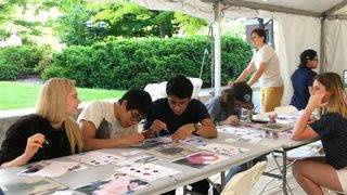 Community-created artwork inspired by University of Michigan library…