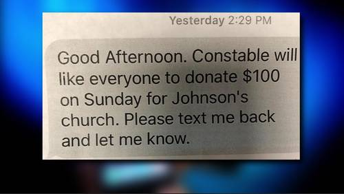 Text message prompts scrutiny of Precinct 3 Constable's Office