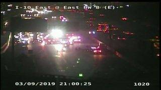 Multi-vehicle crash shuts down all westbound lanes of East Freeway