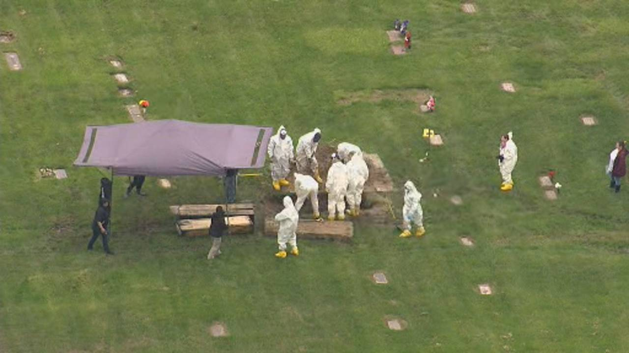 Canton Township cemetery dig aerials 5