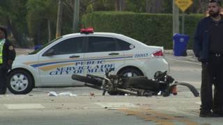 Suspect in custody after hit-and-run crash that killed motorcyclist