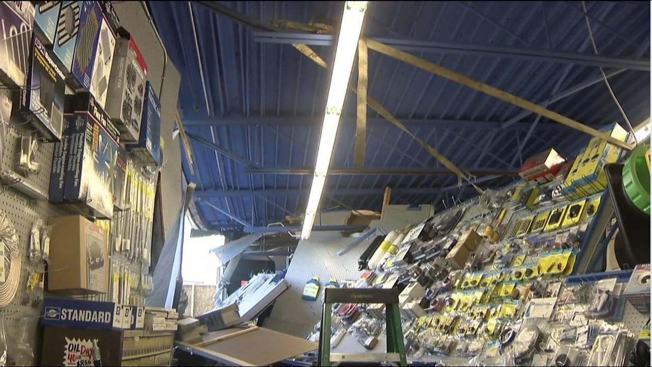 Richards Auto Parts damage shelves