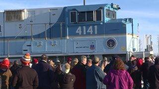Locomotive 4141 now on display in Omaha, Nebraska