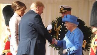 Trump meets Queen Elizabeth II