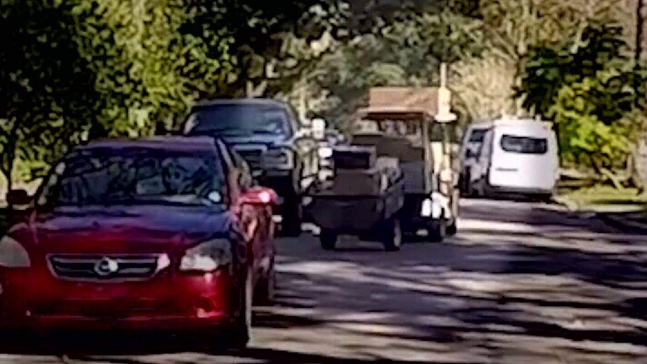 loaded golf cart for ups