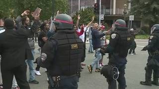 Sacramento protesters: 'Cells up, don't shoot'