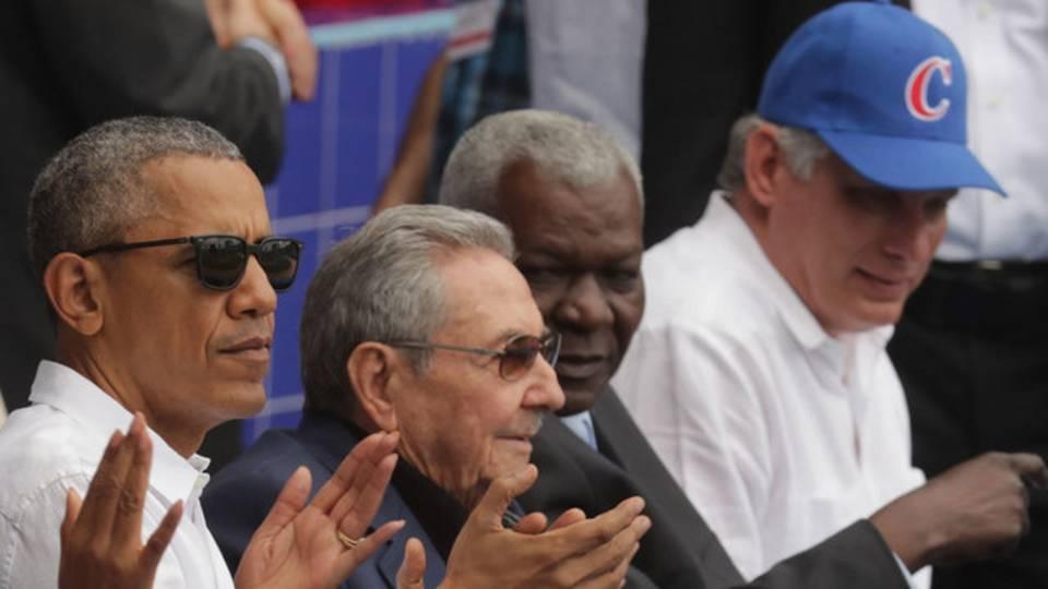 Barack obama raul castro miguel diaz-canel