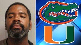 Florida man burns Gators flag on car, says he roots for Hurricanes