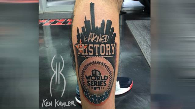 Astros player looking for fans with world series tattoos for World series tattoo