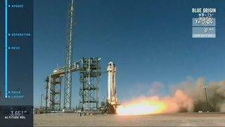 Blue Origin launches another test of its tourism spaceship in Texas