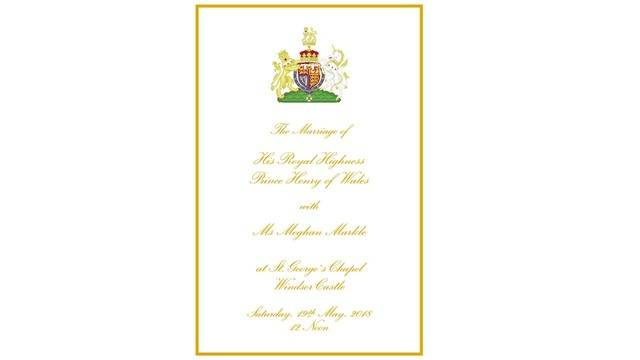 this is the royal wedding program