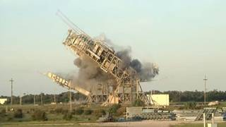 BOOM! Watch demolition of historic launch towers at Cape Canaveral