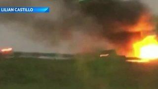 8 people hurt in fiery crash, OCFR says