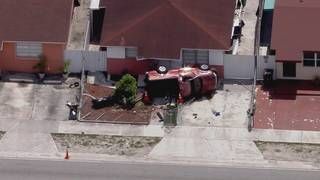Dramatic video shows truck rolling in front of Hialeah home