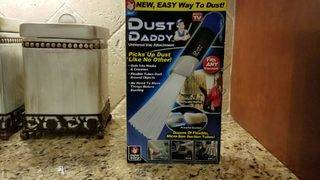 Can the 'Dust Daddy' remove dust in hard-to-reach nooks and crannies?
