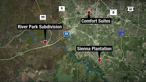 Multiple vehicle break-ins reported at 3 separate Fort Bend County locations