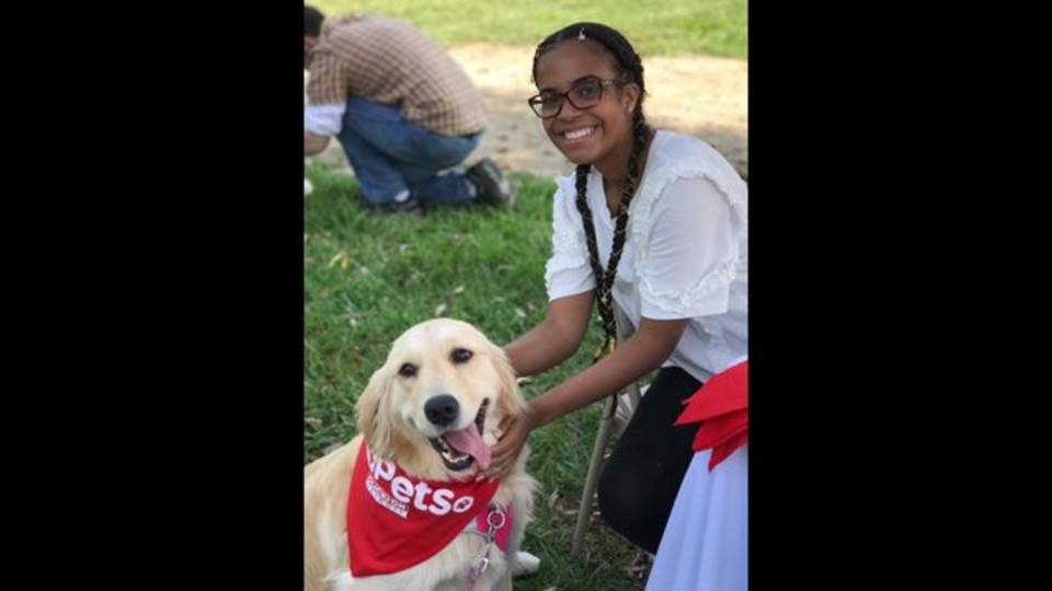 Arielle with dog at Barktoberfest 2017